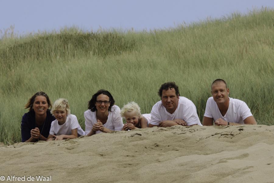 Fam. de Leu op het strand